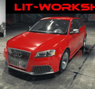 Мод Audi RS3 для Кар Механик Симулятор 2018