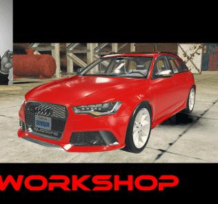 Мод Audi RS6 Avant для Кар Механик Симулятор 2018