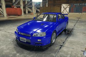 Мод Nissan Skyline GT-R (R34) для Кар Механик Симулятор 2018