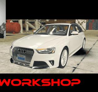 Мод Audi RS4 Avant B8 для Кар Механик Симулятор 2018