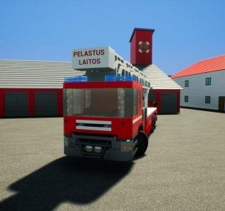 Мод Finnish Fire Engine n.406 для Бриг Ригс