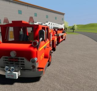 Мод Fire Dept. Tiller Ladder 34 для Бриг Ригс