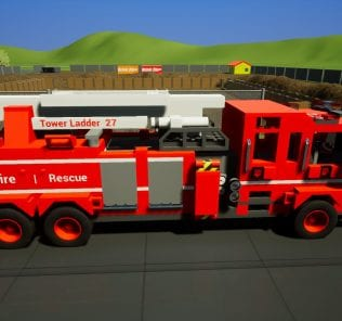 Мод Fire Dept. Tower Ladder 27 для Бриг Ригс