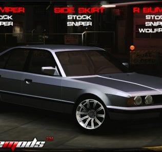 Мод BMW 535 E34 для NFS Underground 2