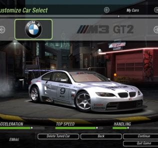 Мод BMW M3 GT2 (2009) для NFS Underground 2