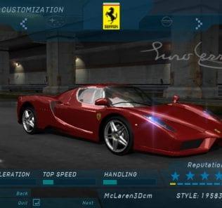 Мод Ferrari Enzo для NFS Underground