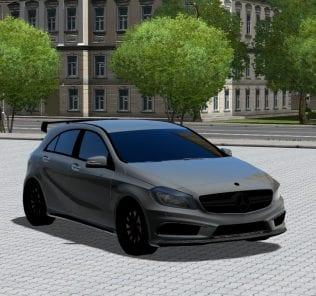 Мод Mercedes-Benz A45 Amg для Сити Кар Драйвинг v.1.5.1 - 1.5.4