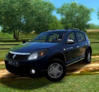 Мод Renault Sandero для Сити Кар Драйвинг v.1.5.1 - 1.5.6