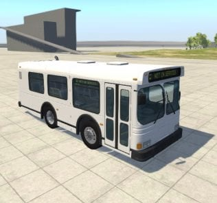 Мод АвтобусStubby Bus 1.0 для BeamNG Drive