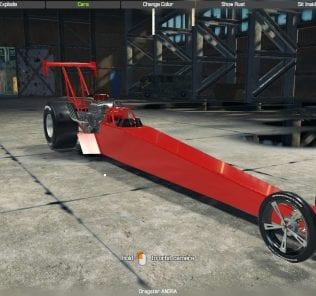 Мод Top Fuel Dragster для Кар Механик Симулятор 2018