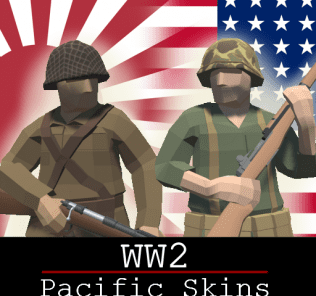 Мод WW2 Pacific Skins (SNLF and USMC) для Равенфилд