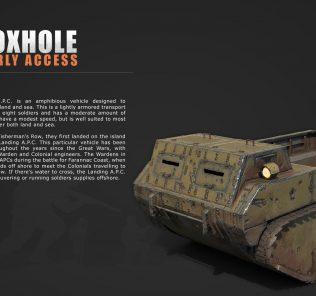 Мод Foxhole Colonial Landing A.P.C. для Равенфилд