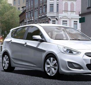 Мод Hyundai Solaris Hatchback для Сити Кар Драйвинг v.1.5.6