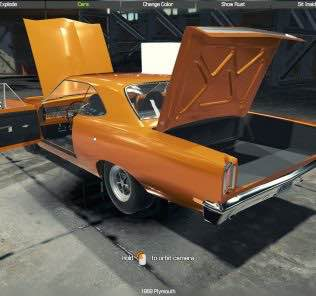 Мод 1969 Plymouth для Кар Механик Симулятор 2018