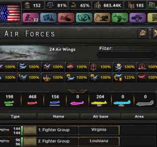 Мод Color Air Force Planes для Hearts of Iron IV