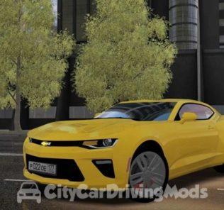 Мод 2018 Model Chevrolet Camaro V8 для Сити Кар Драйвинг v.1.5.6