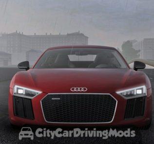 Мод Audi R8 V10 Plus 2017 для Сити Кар Драйвинг v.1.5.7