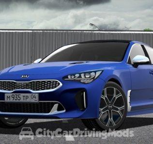 Мод Kia Stinger GT 2018 для Сити Кар Драйвинг v.1.5.5