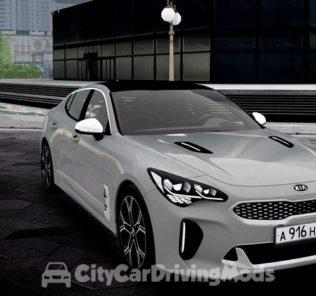 Мод Kia Stinger GT 2018 для Сити Кар Драйвинг v.1.5.7
