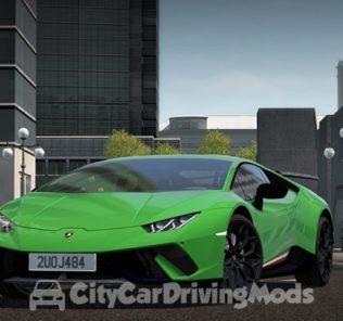Мод Lamborghini Huracán Performante 2017 для Сити Кар Драйвинг v.1.5.8