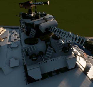 Мод M4A3E8 Sherman tank diorama для Бриг Ригс