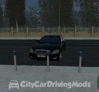 Мод Mercedes-Benz W221 S550 для Сити Кар Драйвинг v.1.5.5