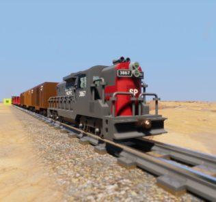 Мод Southern Pacific Train для Бриг Ригс