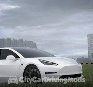 Мод Tesla Model 3 2018 для Сити Кар Драйвинг v.1.5.5