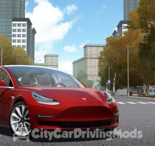 Мод Tesla Model 3 2018 для Сити Кар Драйвинг v.1.5.7