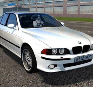Мод BMW M5 E39 White для Сити Кар Драйвинг v.1.5.9