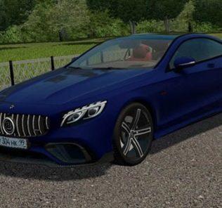 Мод Mercedes-Benz S63 AMG Coupe Brabus для Сити Кар Драйвинг v.1.5.9