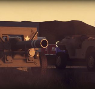 Мод GTMV Willys MB w/ Cannon для Бриг Ригс