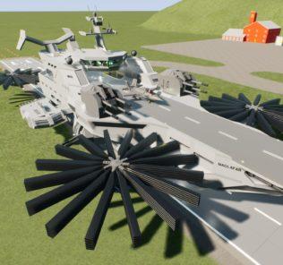 Мод Naglfar Weaponised Invasion Helicarrier для Бриг Ригс