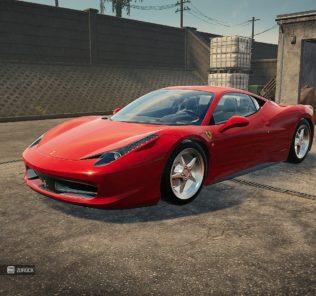 Ferrari 458 мод для Car Mechanic Simulator 2021