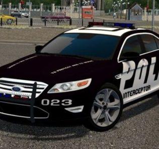 Мод Ford Taurus 2010 (Police Version) для Сити Кар Драйвинг v.1.5.9